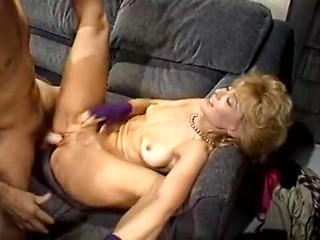 Sassy blonde is fucked in a golden age xxx video